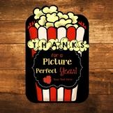 Editable Popcorn Movie Teacher Appreciation Gift