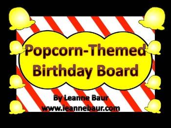 {Editable} Popcorn Themed Birthday Display