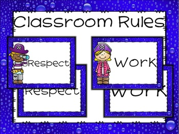 Editable Positive Classroom Rules with Pirate Theme