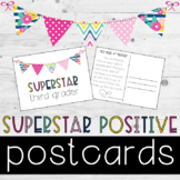Editable Positive Postcards to Students {COLORFUL BUNTING}