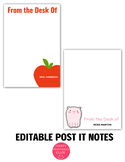 Editable Post It Notes for Teachers