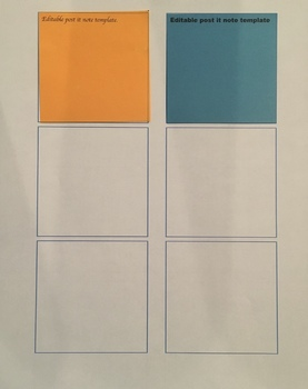 Editable Post-it note template