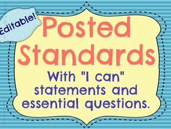 Editable Posted Standards