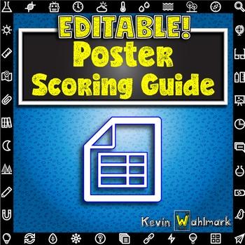 Editable Poster Scoring Guide Rubric