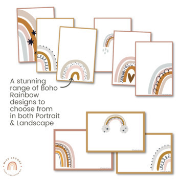 Editable Posters | Neutral Rainbow Decor
