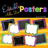 Editable Posters - Polka Dots