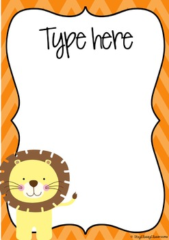 Editable Posters & Signs - Jungle Animals