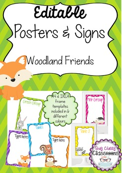Editable Posters & Signs - Woodland Friends