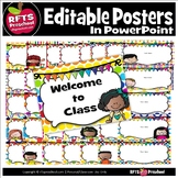 Editable Classroom Posters Using PowerPoint