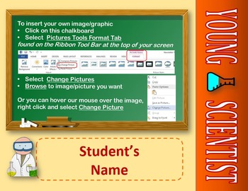 Editable Posters and Certificates: Young Scientist Theme