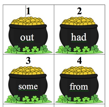 Editable Pot of Gold Sight Word Search