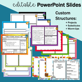Editable Power Point Slides for History, Math, English, Sc