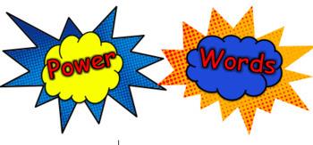 Editable Power Sight Words!