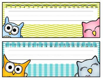 Editable PowerPoint Owl Name Plates