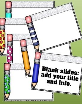 Editable PowerPoint Presentation {Pencils}