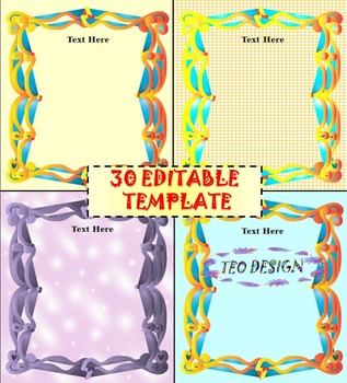 Editable Templates - Writing Activity and Bulletin Board Decorations