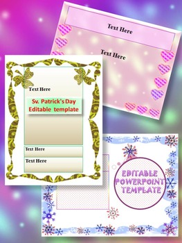 End of the year activities - Editable Template - Bundle