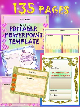 Classroom Decor BUNDLE Editable PowerPoint Pack distance learning Back to School