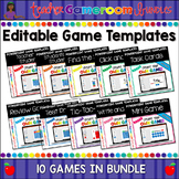 Editable Powerpoint Games Bundle