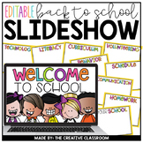Editable Powerpoint - Open House, Curriculum Night, Meet the Teacher