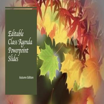 Editable Powerpoint Slides- Autumn Edition