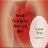 Editable Powerpoint Slides- Summer Edition