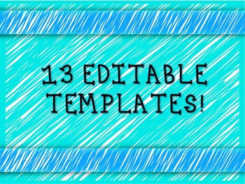 Editable Powerpoint Template - Blue Sketches
