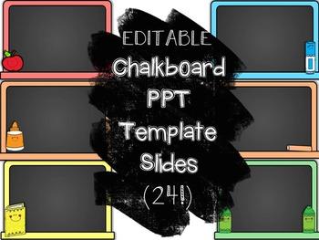 Editable Powerpoint Template- Chalkboard