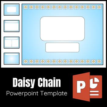 Editable Powerpoint Template Daisy Chain Theme