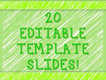 Editable Powerpoint Template - Green Sketches