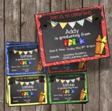 Editable Pre-K Graduation Invitation - Chalkboard - PreK A