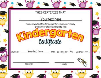 Editable Pre-K and Kindergarten Promotion/Graduation Certificates
