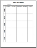 Editable Pre-populated Lesson Plan Template - 7th Grade Math TEKS
