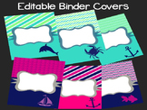 Editable Preppy Binder Covers