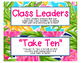 Editable Preppy Tropical Lilly Class Jobs for the Leadership Classroom