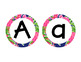 Editable Preppy Tropical Lilly Create Your Own Banner/Bulletin Circles w/ black