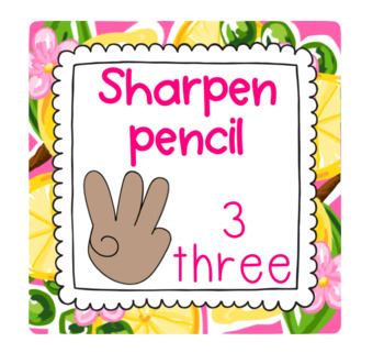 Editable Preppy Tropical Lilly Raise a Number Classroom Management Display