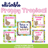 Editable Preppy Tropical Lilly Raise a Number Classroom Ma