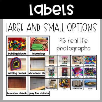 Editable Classroom Labels - Real Life Photos