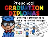 Editable Preschool Diploma
