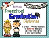 Editable Preschool Graduation Diplomas
