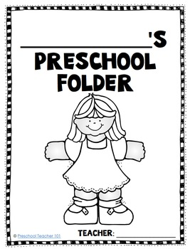 Editable Preschool Homework Folder Covers