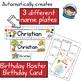 Editable Preschool Name Plates, Diplomas, Portfolio Covers, Birthday Cards