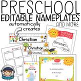 End of Year Editable Preschool Diplomas, Portfolio Covers and more