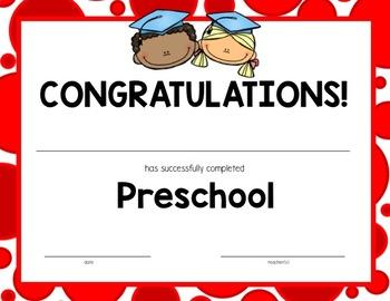 Editable Preschool & Pre-K Graduation Certificates!