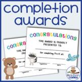 Editable End of the Year Awards for Preschool, Pre-K & Kin