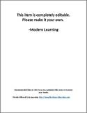 Editable Preschool Staff Handbook