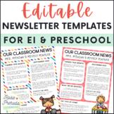 Editable Preschool Theme Newsletters
