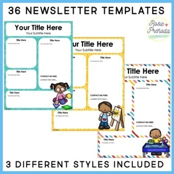Editable Preschool Kids Newsletter Templates
