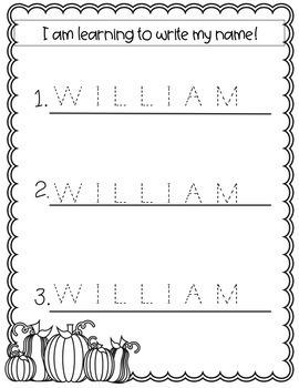 Editable Name Tracing Sheets (Fall-Themed)